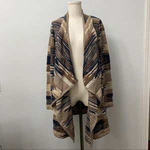 Lucky Brand Waterfall Tribal Aztec Cardigan